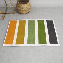 Olive Green & Hazel Brown Geometric Pattern Rug