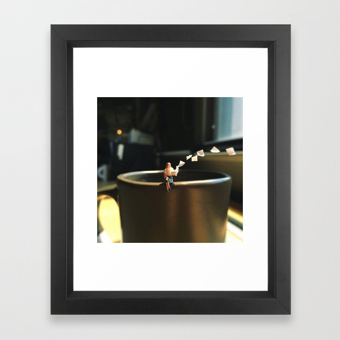 Toss Away Framed Art Print