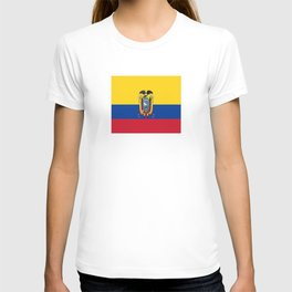 Flag of Ecuador -ecuadorian,Inca,Kichwa,Quito,america, South america,Spanish,Amazonia,latin america T-shirt