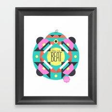 Feel the Beat Framed Art Print