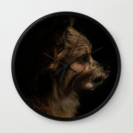 Long-Coat Chihuahua Wall Clock