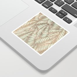 Vintage Tropical Leaves Sticker