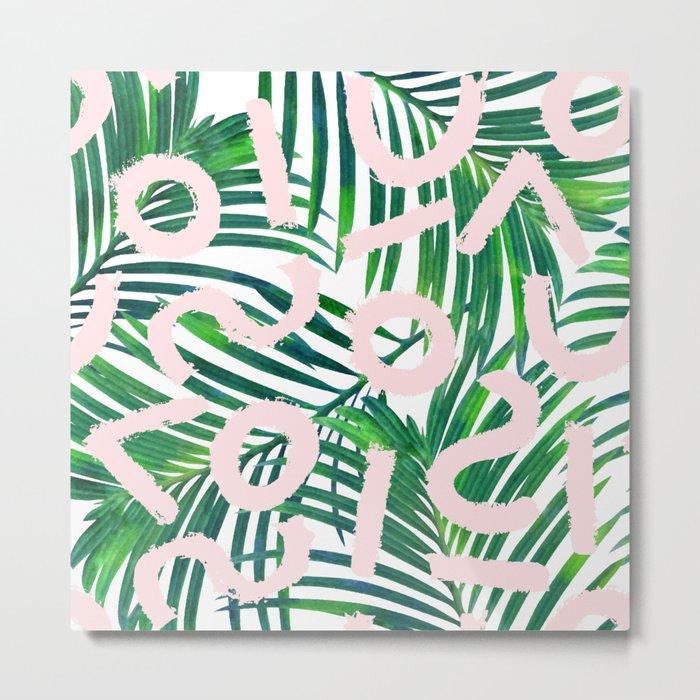 Palm Blabber #society6 #decor #buyart Metal Print