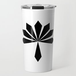 Metal Flower Black Travel Mug
