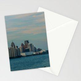 Detroit cityscape Stationery Cards