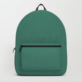 Viridian Green Solid Color Backpack