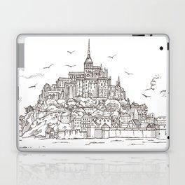 Le Mont Saint Michel ,Normandy, France. Hand drawn sketch Laptop & iPad Skin