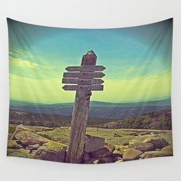 Penobscot Mountain Sign Wall Tapestry