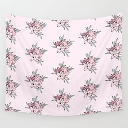 Vintage Flowers Pattern Wall Tapestry