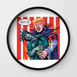 HELLO USA Wall Clock