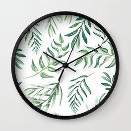 Floating Leaves #society6 #buyart Wall Clock