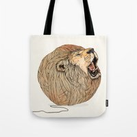 dreams Tote Bags featuring Unravel Me by Sandra Dieckmann