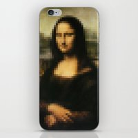mona lisa iPhone & iPod Skins featuring Mona Lisa by Bilal