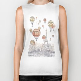 Voyages Over Paris ~ Refresh Biker Tank