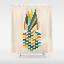 Groovy Pineapple Shower Curtain