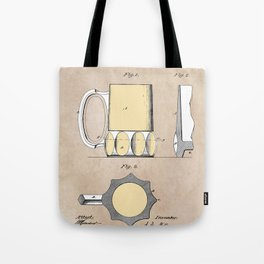 patent Beer Mugs Tote Bag