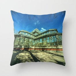 Crystal Palace of Madrid Throw Pillow