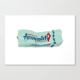 Discarded Bubblegum Wrappers Canvas Print
