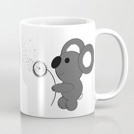 "Baby Koala Making Dandelion ""Wishies"" Coffee Mug"
