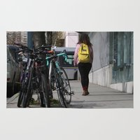 backpack Area & Throw Rugs featuring Bikes and backpack by RMK Photography