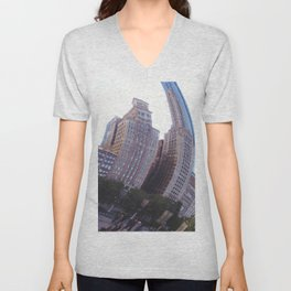 Reflecting, Chicago City in Cloud Gate Unisex V-Neck