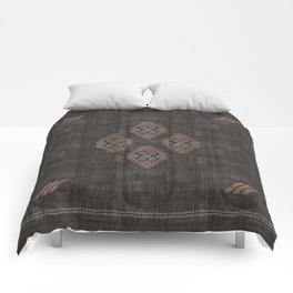 Kilim in Black and Pink Comforters