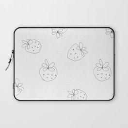 Your Color no.2 - strawberry illustration fruit pattern Laptop Sleeve