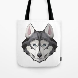 Triangular Geometric Siberian Husky Head Tote Bag