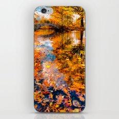 Boston Fall Foliage Reflection iPhone & iPod Skin