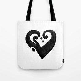 Heart / قلب (black) Tote Bag