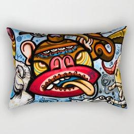 Barcelona Street Art Rectangular Pillow