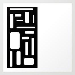 Half white geometric design Art Print