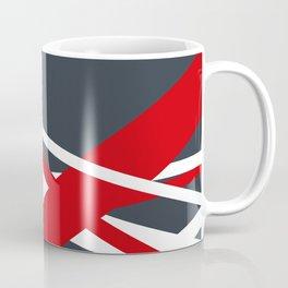 Navy diagonal stripes Coffee Mug