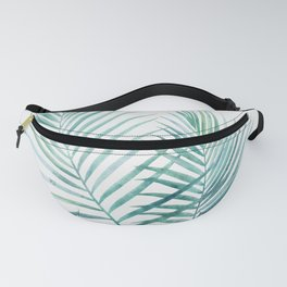 Twin Palm Fronds - Teal Fanny Pack