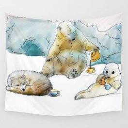 Polar Tea Party Wall Tapestry