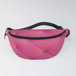 Hot pink Suede texture Fanny Pack