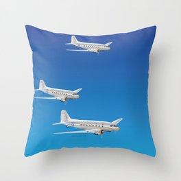Airplane DC-3 Throw Pillow