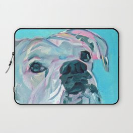 Bella the White Boxer Girl Laptop Sleeve