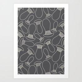 king oyster mushrooms Art Print