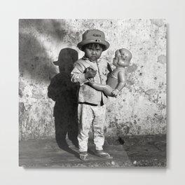 GIRL WITH DOLL - VIETNAM Metal Print