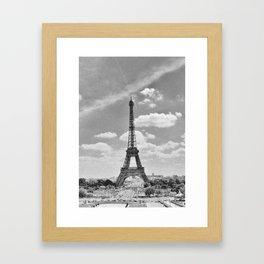 Paris: Eiffel Tower B&W Framed Art Print