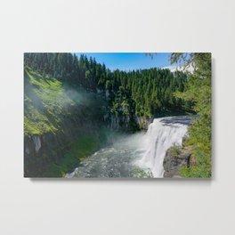 Mesa Falls Landscape Metal Print