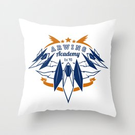 Arwing Academy Throw Pillow