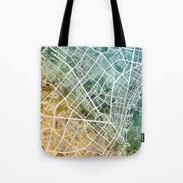 Bogota Colombia City Map Tote Bag