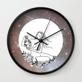 She Is Playing With Moths Wall Clock