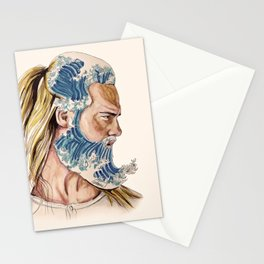 King of waves Stationery Cards