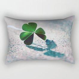 Green Clover Shadow Rectangular Pillow