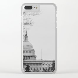 US Capitol Shrouded In Winter Gloom Clear iPhone Case