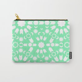 Peppermint Arabesque Carry-All Pouch