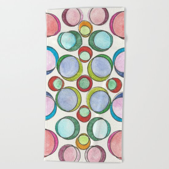 Orbicular Symmetry Beach Towel